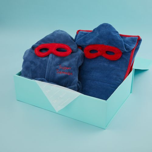 Personalised Superhero Robe & Bath Wrap Gift Set