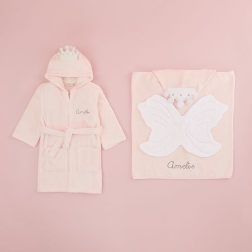 Personalised Princess Robe & Bath Wrap Gift Set