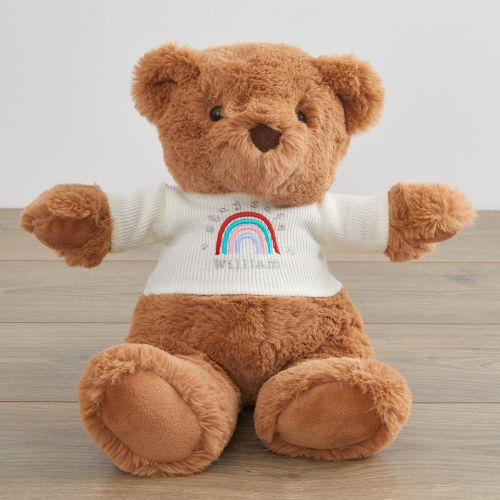 Personalised Super Soft Bear with Stay Safe Jumper