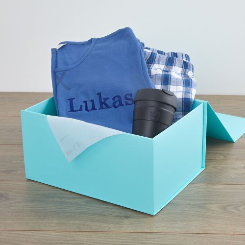 Personalised Pyjamas & Socks Father's Day Gift Set