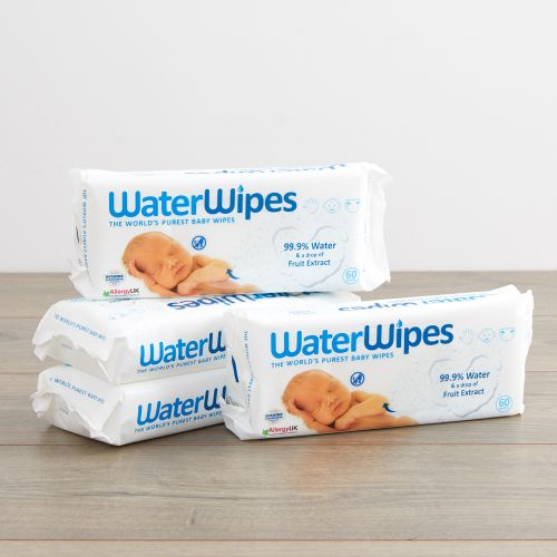 Multipack Waterwipes Cleaning Wipes (Pack of 4)