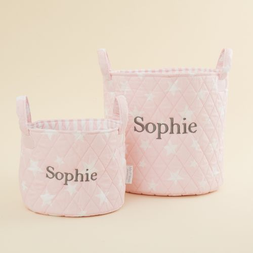 Personalised Pink Star Storage Bag Gift Set