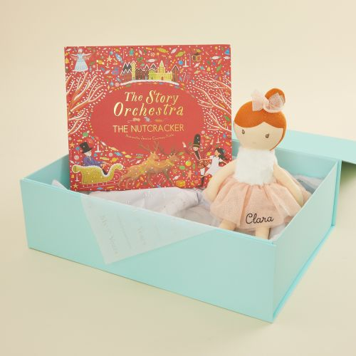 Personalised Nutcracker Musical Story Book and Ballerina Doll Gift Set