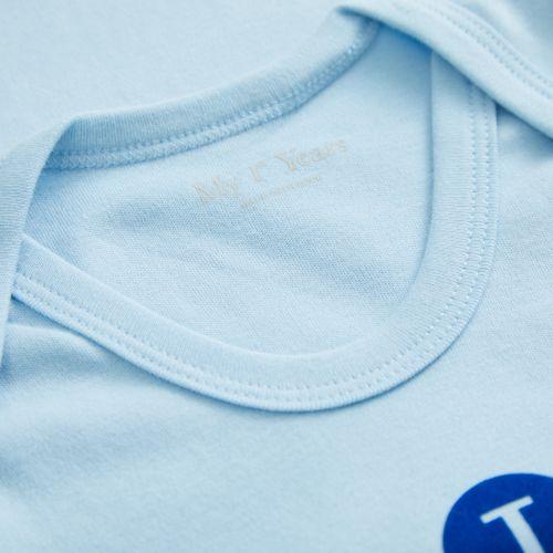 Blue Slogan Bodysuit - I Heart Daddy