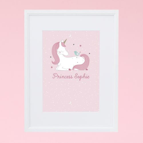 Personalised Unicorn Design Wall Art
