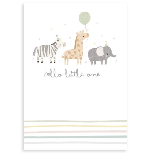 Personalised Hello Little One Greetings Card