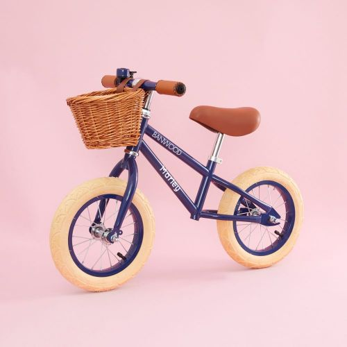 Personalised Banwood First Go Balance Bike in Navy Blue