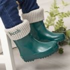 Personalised Green Wellies & Welly Socks