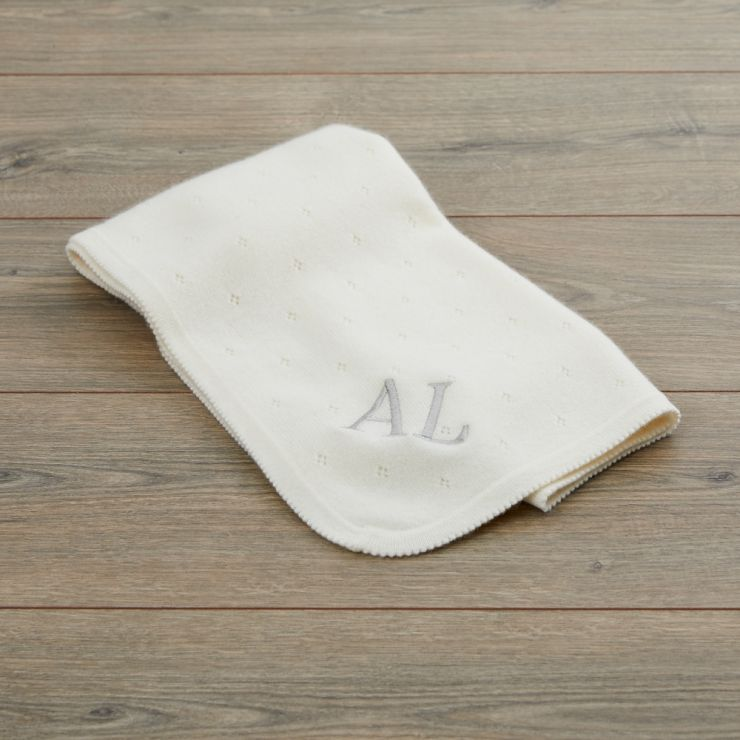 Ivory Cashmere Baby Blanket