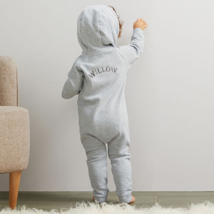 Personalised Jersey Onesie - Grey
