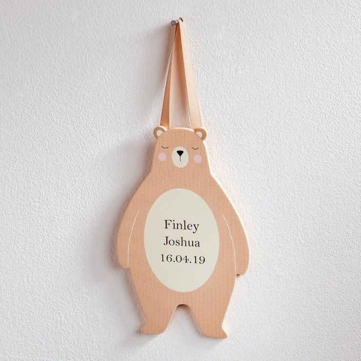 Personalised Bear Door Sign