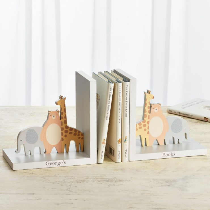 Personalised Animal Friends Bookends