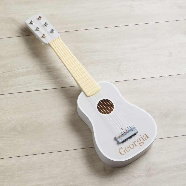 Personalised Grey Toy Guitar