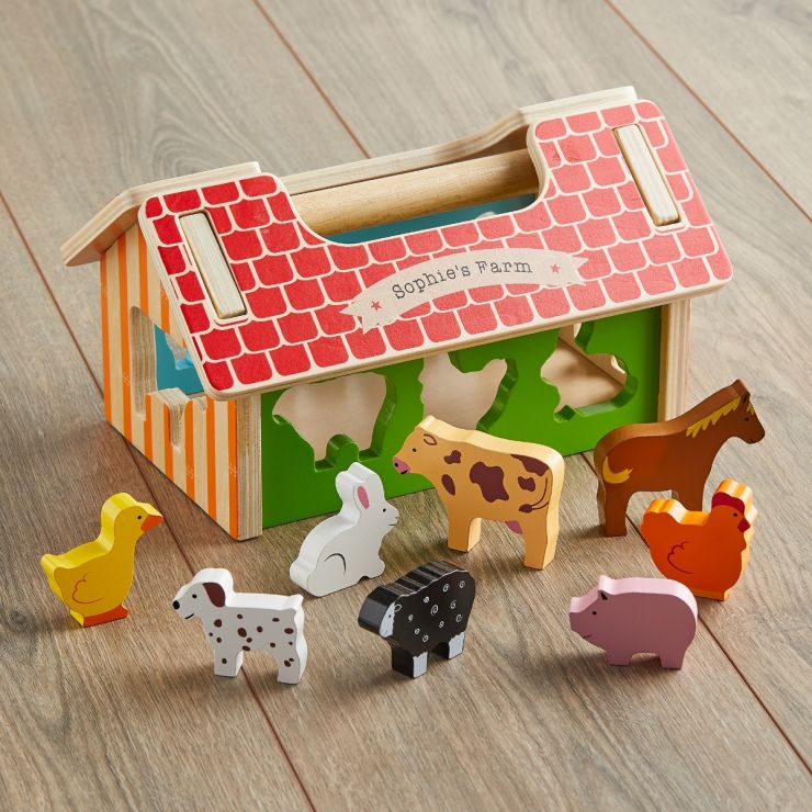 Personalised Wooden Farmhouse Sorter