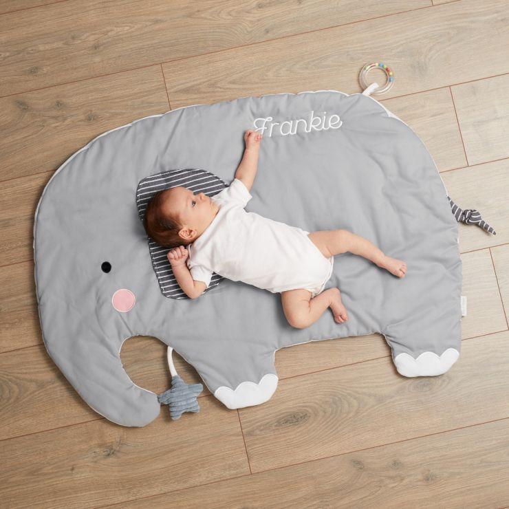 Personalised Grey Elephant Activity Playmat - Model
