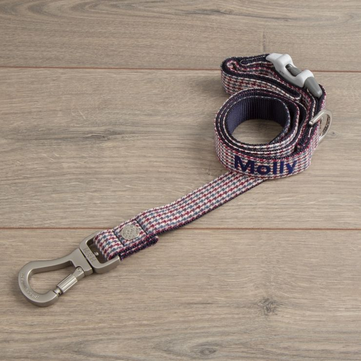 Personalised Tweed Dog Lead