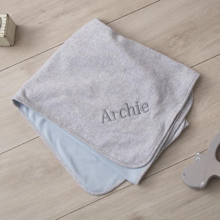 Personalised Grey Marl Blanket