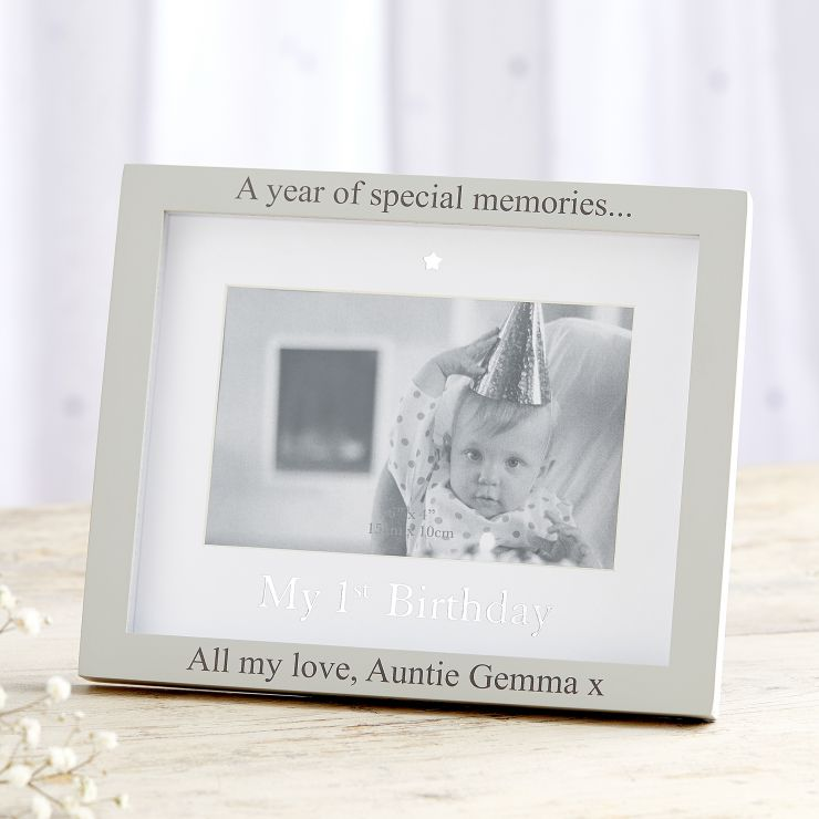 Personalised 1st Birthday Photo Frame