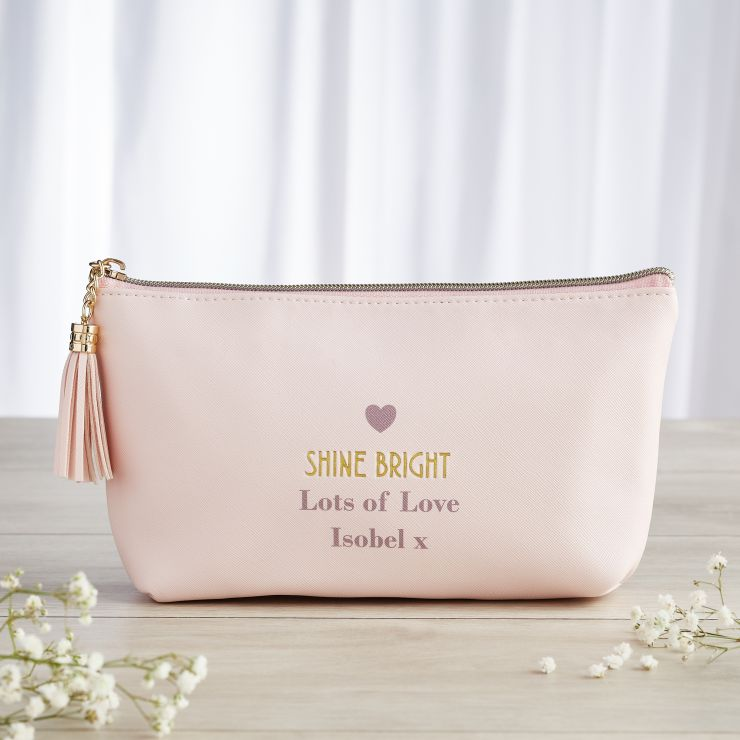 Personalised 'Shine Bright' Accessory Bag
