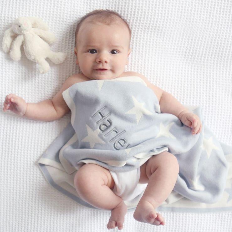 Personalised Blue Star Blanket