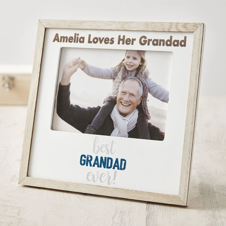 Personalised Best Grandad Photo Frame