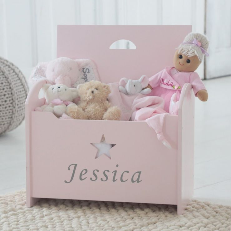 Personalised Pink Star Toy Chest