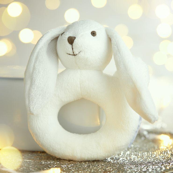 White Bunny Rattle
