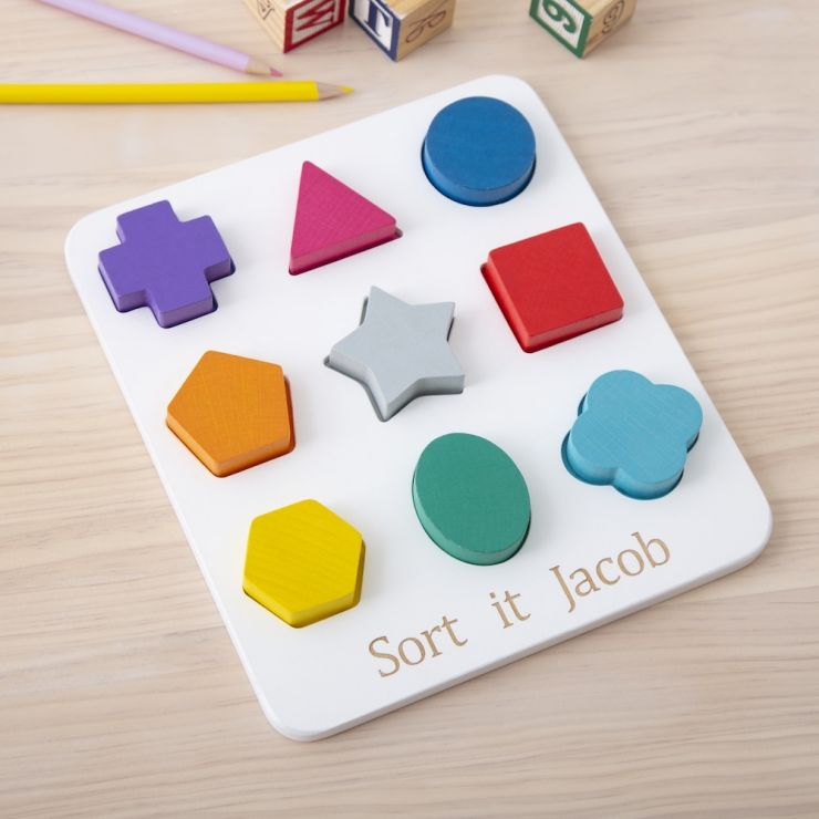 Personalised Wooden Shape Sorter