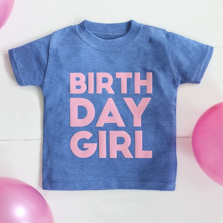 Girls Personalised Birthday T-shirt