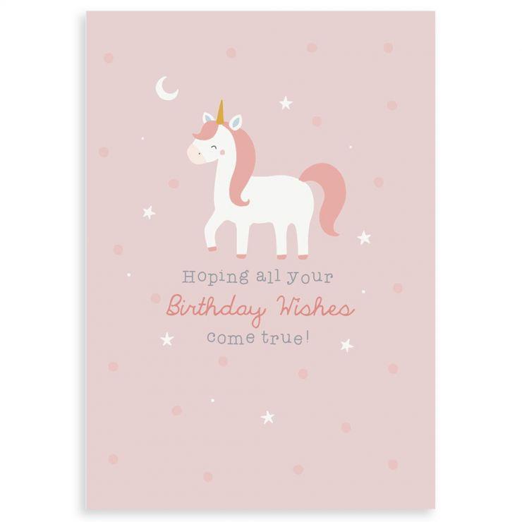 Personalised Unicorn Design Children's Birthday Greetings Card