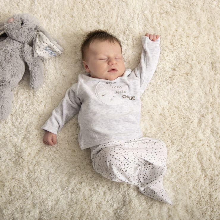 Personalised Moon Velour Pyjamas