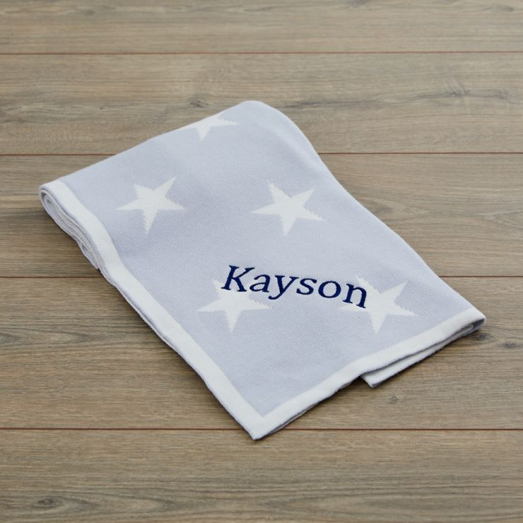 Personalised Blue Star Blanket