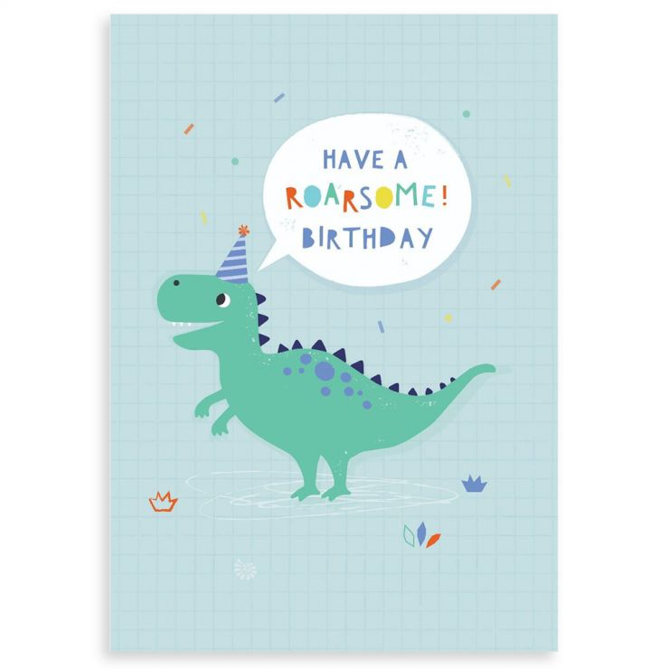 Personalised Dinosaur Design Children's Birthday Greetings Card