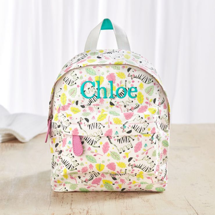 Personalised Zebra Print Mini Backpack