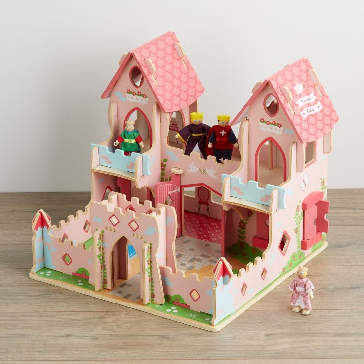 Personalised Wooden Fairytale Palace with Figures