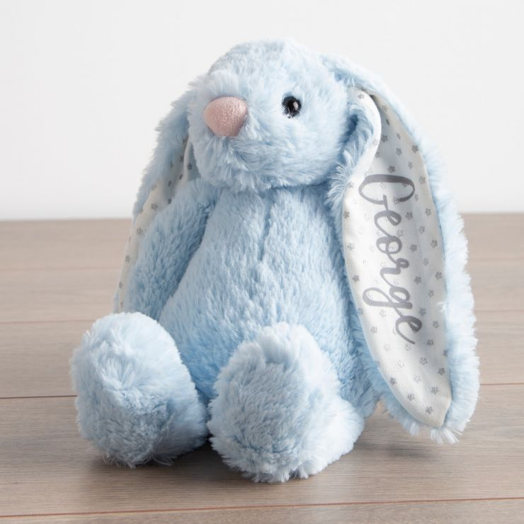 Personalised Blue Bunny Soft Toy
