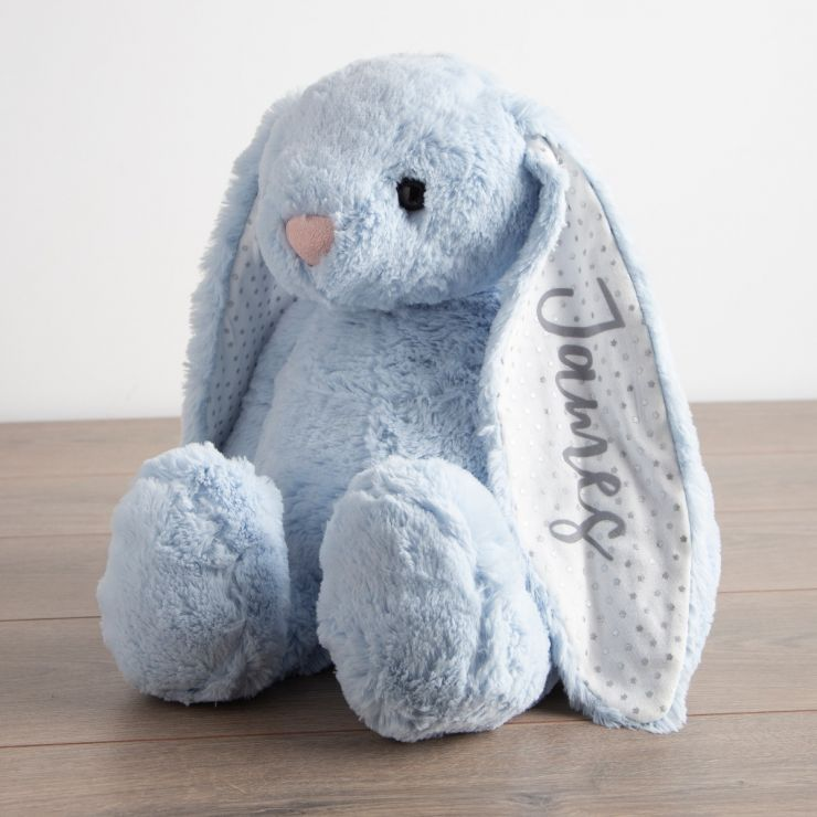 Personalised Large Blue Bunny Soft Toy