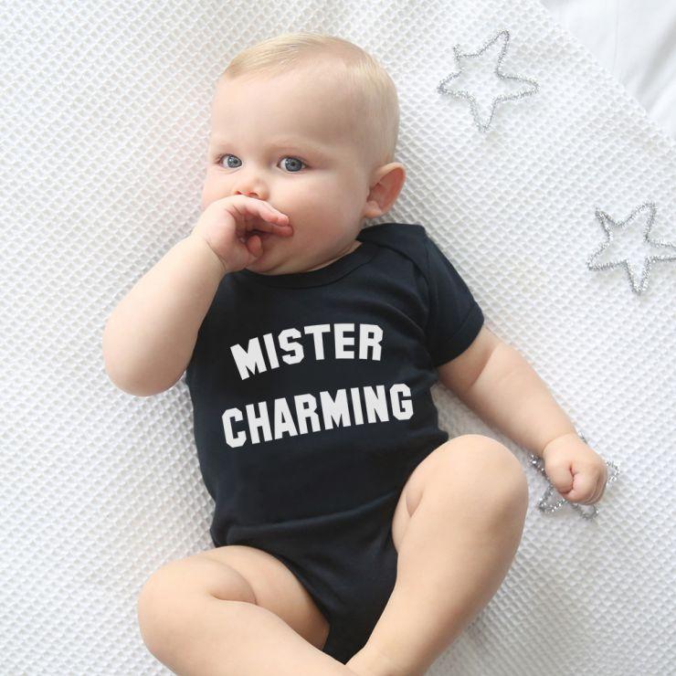 Black Mister Charming Bodysuit