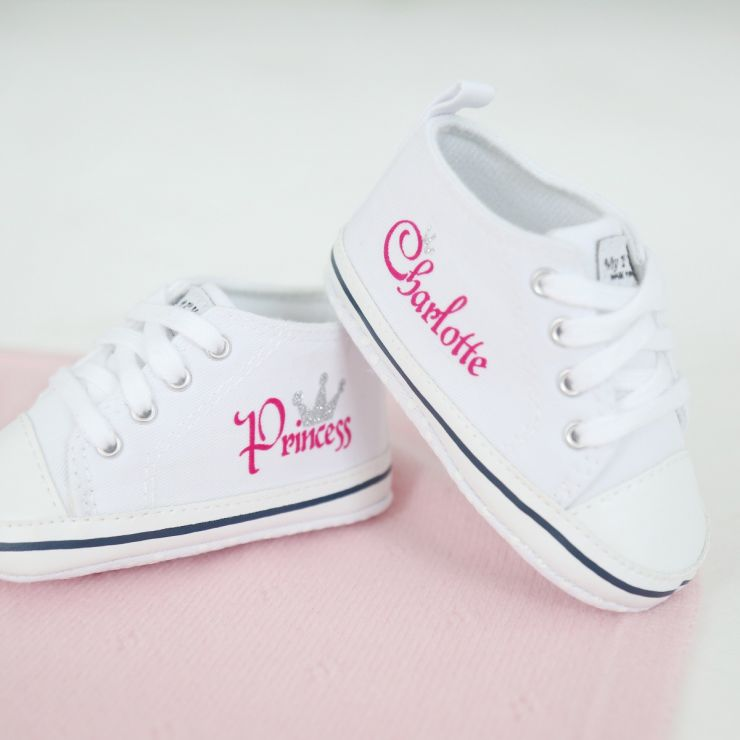Personalised Princess High Top Trainers