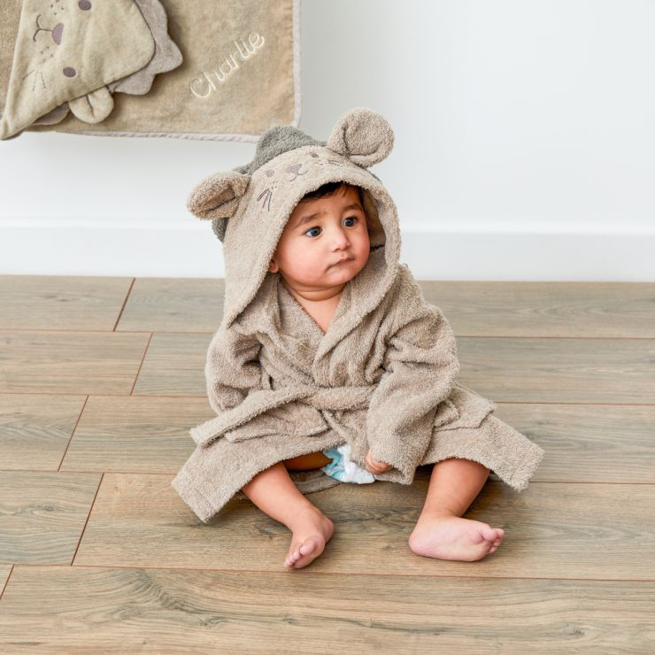 Personalised Lion Towelling Robe