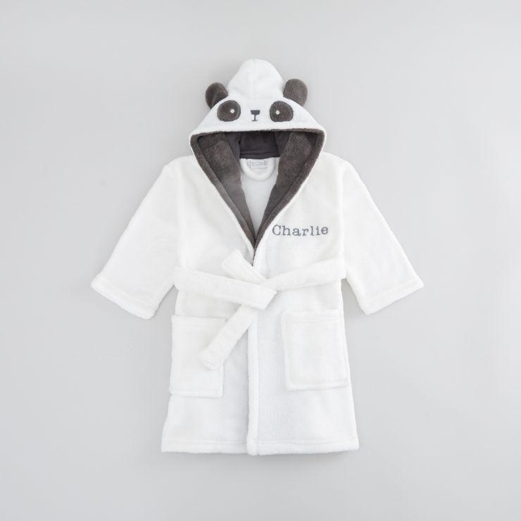 Personalised Monochrome Panda Robe