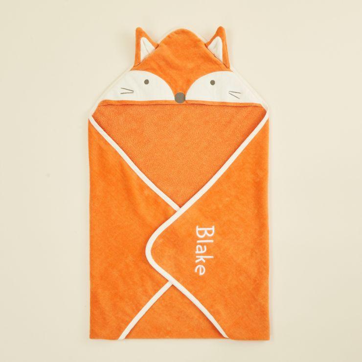 Personalised Fox Hooded Towel