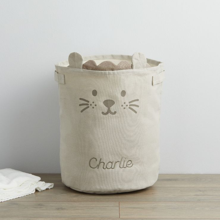 Personalised Taupe Lion Storage Bag