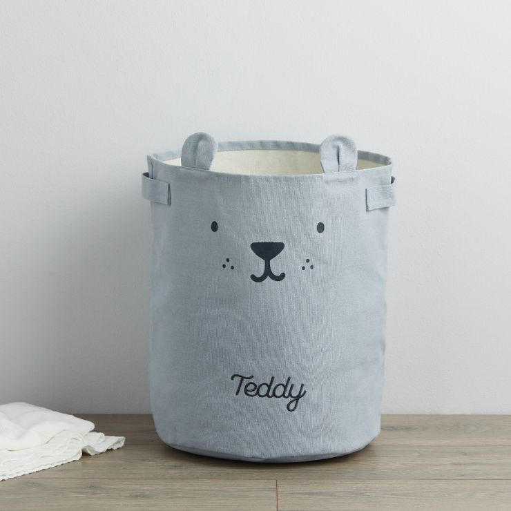 Personalised Blue Bear Storage Bag