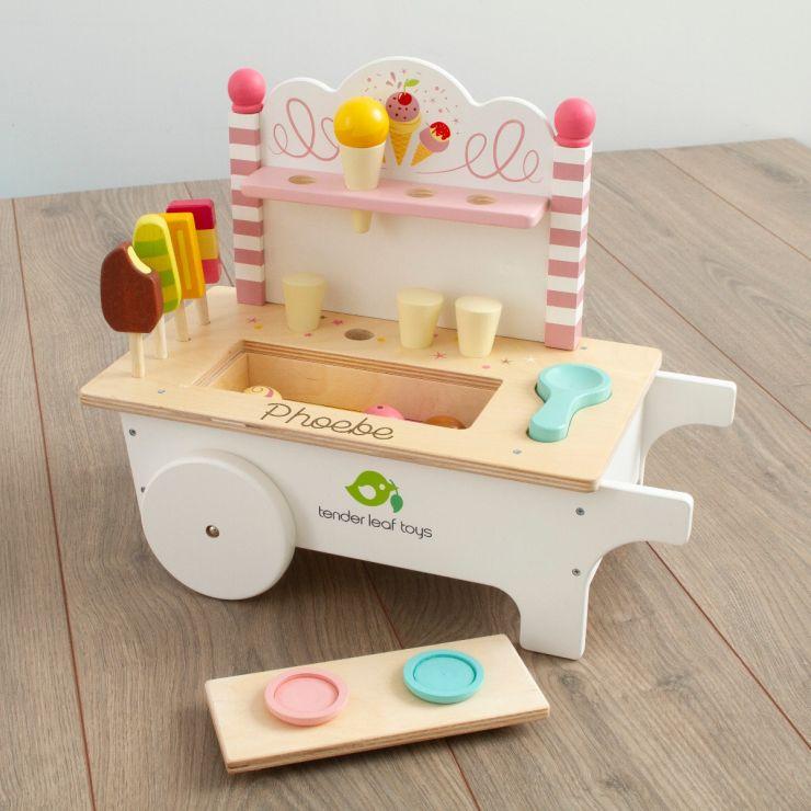 Personalised Tenderleaf Wooden Ice cream Table Top Toy