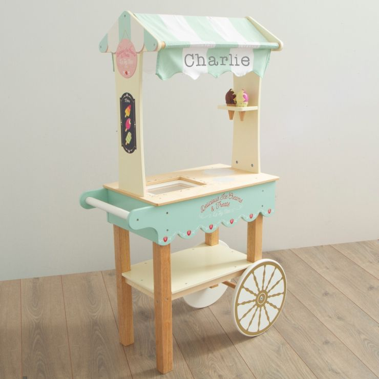 Personalised Le Toy Van Ice Cream Cart Wooden Toy
