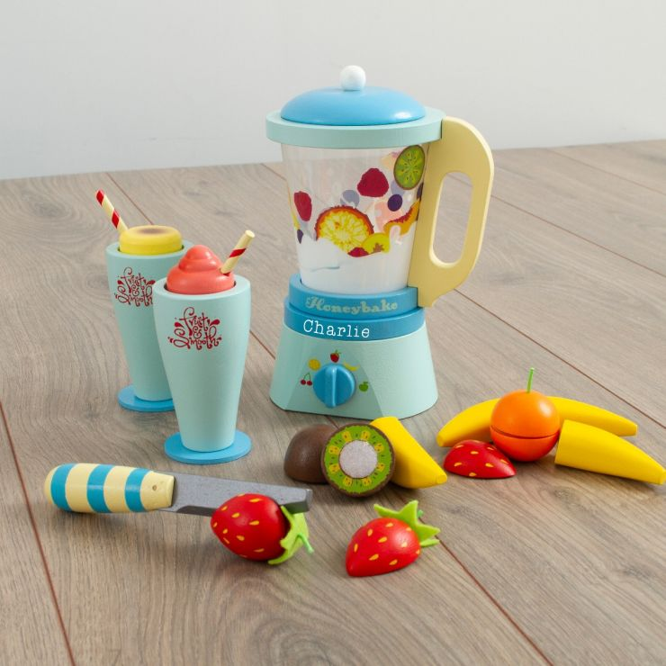 Personalised Le Toy Van 'Fruit & Smooth' Wooden Blender Play Set