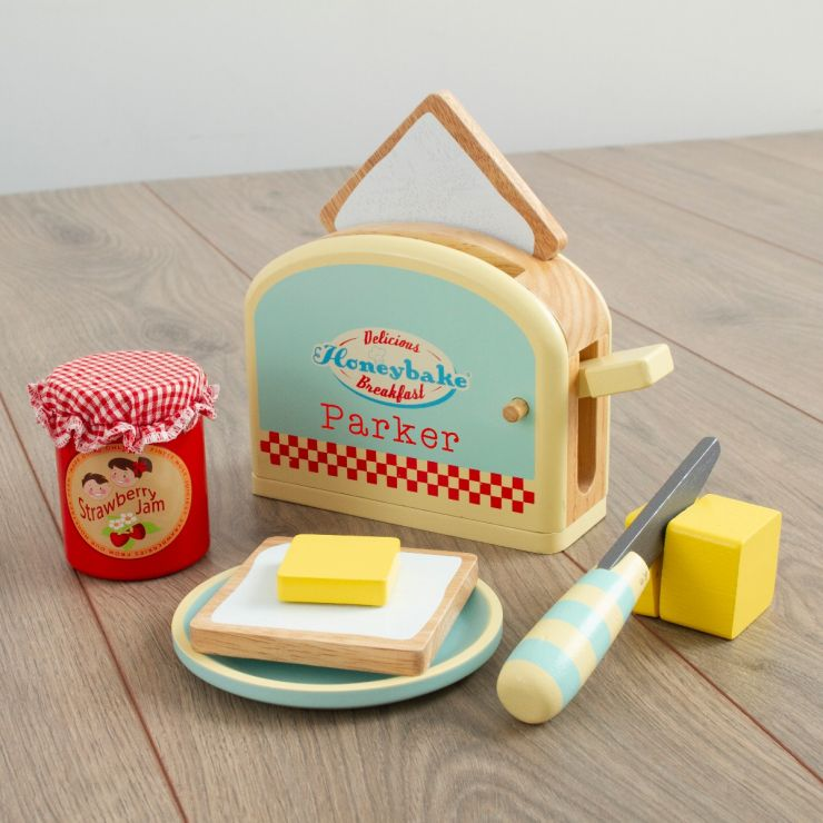 Personalised Le Toy Van Wooden Toaster Play Set