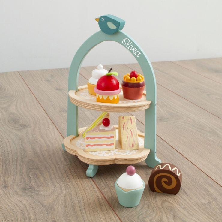 Personalised Tenderleaf Wooden Afternoon Tea Play Set