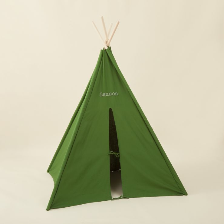 Personalised Green Teepee Tent